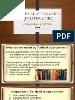 Critical Approaches in Literature