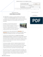Definición de Instrucción - Qué Es, Significado y Concepto