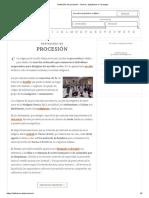 Definición de Procesión - Qué Es, Significado y Concepto