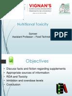 U2 Nutritional Toxicology
