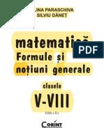 FORMULE SI NOTIUNI GENERALE CLASELE V-VIII
