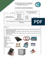 Informe Del Funcionamiento de Una Mini Nevera Por Energia Renovable