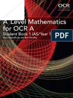 A Level Mathematics for OCR a Student Book 1