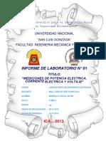 Informe n 01 Laboratorio Maquinas Electricas