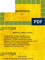 Aristotle's philosophy and short backround.