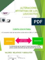 Alteraciones Cuantitativas de Leucocitos