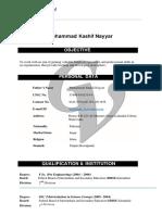 Kashif's CV