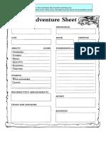 Adventure Sheet