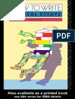 [D. B. Pirie] How to Write Critical Essays a Guid(BookFi)