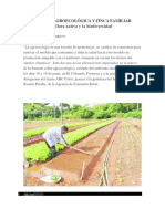 PRODUCCIÓN AGROECOLOGICA Y FINCA FAMILIAR