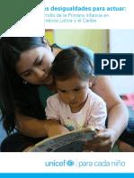 Identificar las desigualdades para actuar_ El Desarrollo de la Primera Infancia en América Latina y el Caribe