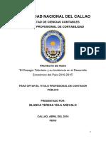 Proyecto de Tesis (La Evasión Fiscal y Las Deudas Tributarias) Blanca Vela Arevalo