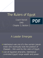 Presentation of The Rulers of Egypt