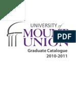 Graduate Catalogue