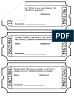 Ticket de salida ejemplos