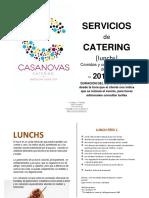 Lunchs Casanovas Catering 2019 20 Español