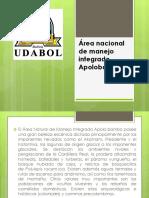 Área nacional de manejo integrado Apolobamba.pptx