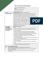 Thermal desalination syllabus