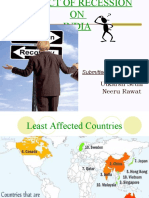 Impact of Recession on India and Various Policies