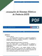 Instalações de Sistemas Elétricos de Potência (SEP) - Geração