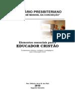 Apostila Educação CRistã 2010 Seg Semestre ; Livro