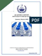 Bottled Water Report (Jan-Mar 2018)