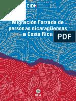CIDH MigracionForzada Nicaragua CostaRica
