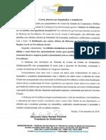 Carta Aberta Aos Deputados e Senadores
