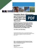 Solar power plant feasibility study