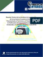 Resumen Técnico de La Iniciativa de Ley de La UAF y Contra El Lavado