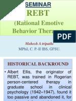 REBT (Rational Emotive Behavior Therapy)