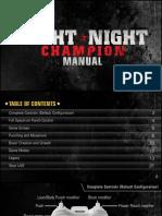 Fight Night Champion Manuals XBOX360