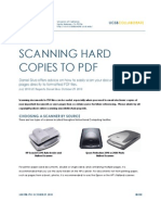 How to Scan Hard Copies to a PDF File (Win/Mac)