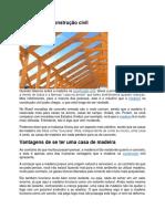 A Madeira Na Construção Civil
