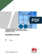 TP48200A-DX09D3 & TBC300A-TCD9 & TPC650A-DX15D1 Outdoor Power System Installation Guide (Telefonica, Peru)