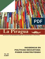 La Piragua 26, año 2007