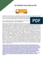 Business Research Methods Uma Sekaran 6th Edition