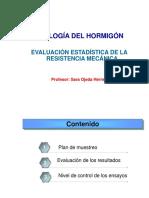 EVALUACIÓN ESTADÍSTICA DE LA RESISTENCIA DEL HORMIGÓN