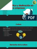 Cultura, Etica y Motivacion
