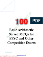Basic Arithmetic Solved MCQs for FPSC and Other Competitive Exams