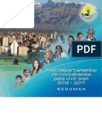 Plan de desarrollo de Cochabamba
