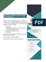 Informe Establecimientos de Crédito de Colombia Julio 2019