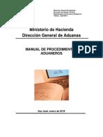 Manual de Procedimientos Aduaneros TICA Enero 2019