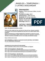 NCIS Los Ángeles - Temporada 1 (Audio Latino) Enlaces de Descarga