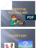 Essential Vocabulary (Unit 4 People and Places)