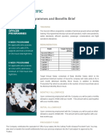 Second Officer Programmes and Benefits Brief