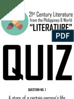 21st Century Literature QUIZ