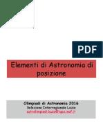 Elementi di Astronomia di posizione