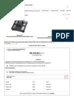 Balança de Controle Corporal Omron HBF-514C Até 150 Kg Preto e Prata Nas Lojas Americanas.com