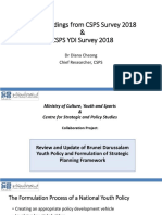 CSPS 2018 Youth Survey - Main Findings